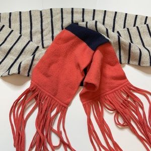 J. Crew Wool/Cashmere Blend Scarf with Fringe